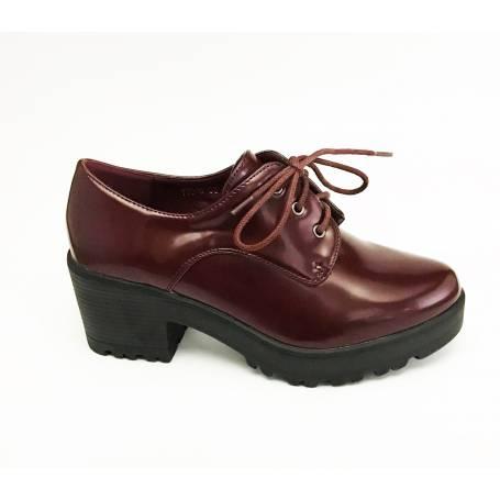 Cordones Zapato Charol Burdeos En Con De Tacón qzSpGUMV