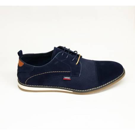 De Hombre Azul Ante Zapato En EYeDH9IW2