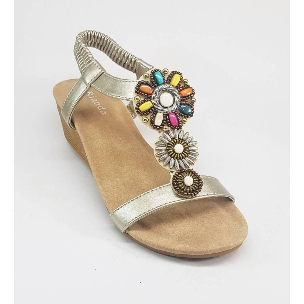 De Piedras Dorada Colores Con Sandalias Onw0pk TJulF1Kc3